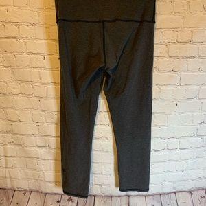 Lululemon Gray high waisted cropped leggings, 6